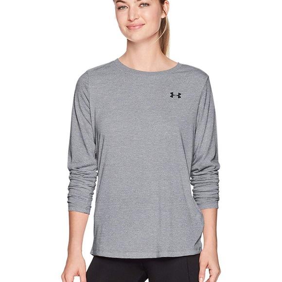 e9e9ed10 Under Armour Women's Training Tee Shirt Gray Boutique
